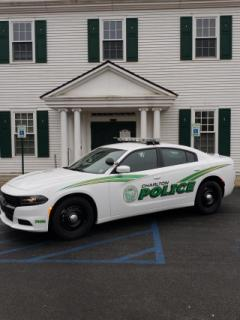 Cruiser in front of Town Hall